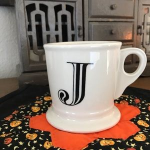 Anthropologie monogram J mug